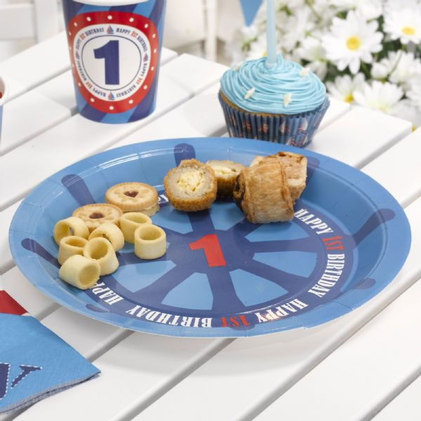 Ahoy There 1st Birthday Plates (8)